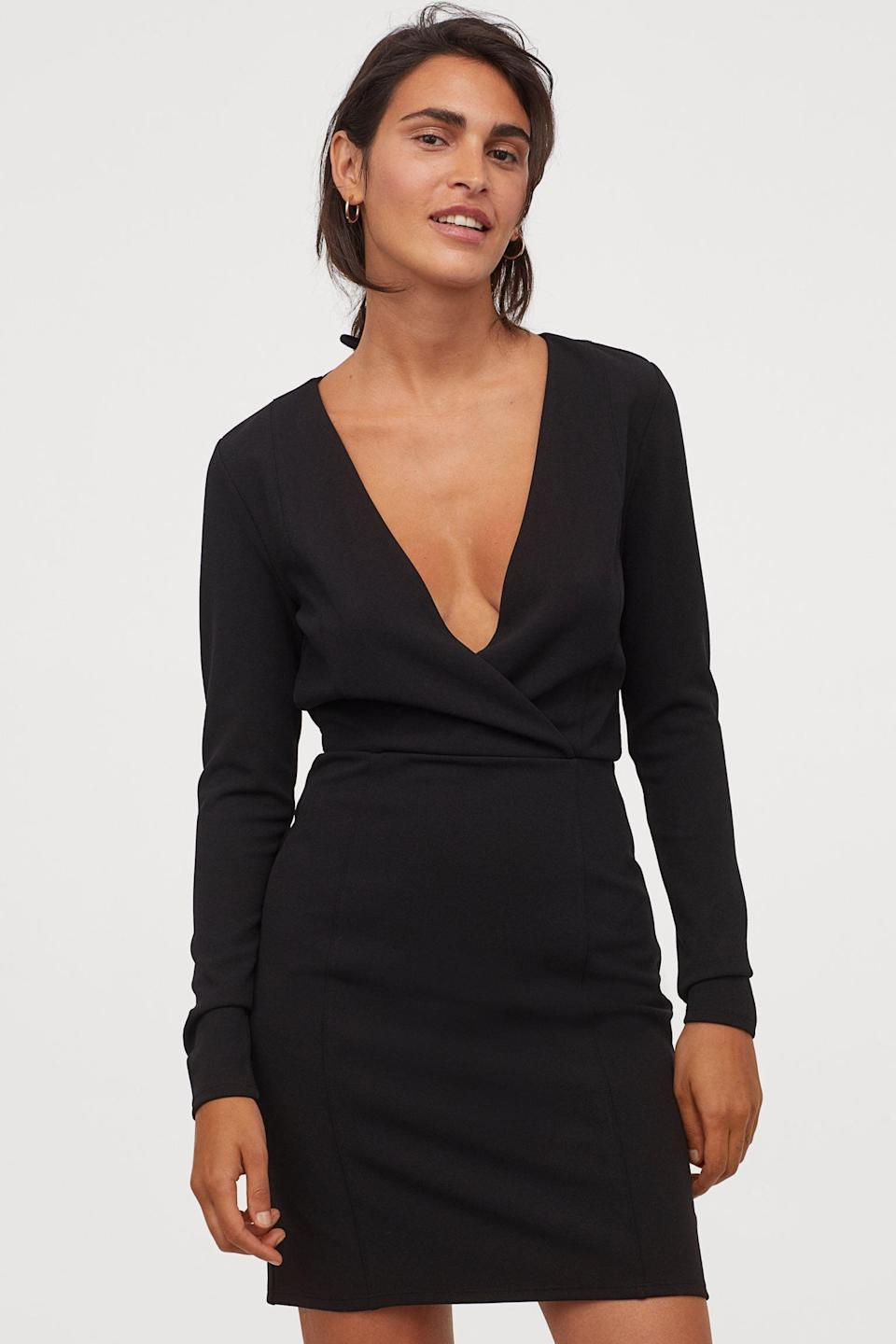 <p>This sultry <span>V-Neck Dress</span> ($20, originally $25) will stand out in the crowd.</p>
