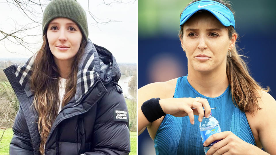 Laura Robson, pictured here announcing her third hip surgery.