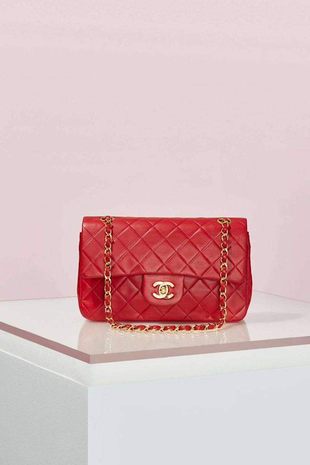 "<p>We know we can never afford it but we had to include this Chanel number because we just love to look at it. Hey, a girl can dream.<i> <a href=""http://www.nastygal.com/vintage/vintage-chanel-255-red-leather-bag?currency_code=GBP&country_code=GB&gdftrk=gdfV27603_a_7c1215_a_7c5853_a_7c61510_d_VIAGE_d_ONE&gclid=CIjcwvS51ssCFQoW0wodHRwOGw"">[Chanel, £2,933]</a></i></p>"
