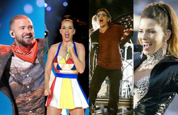 Last 28 Super Bowl Halftime Shows Ranked, From U2 to JLo and Shakira (Photos)