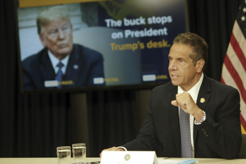 New York Gov. Andrew Cuomo holds his daily press conference on COVID-19 update where he announced new restrictions and quarantined new states held at Governor's Office on July 1, 2020, in New York City. Credit: mpi43/MediaPunch /IPX