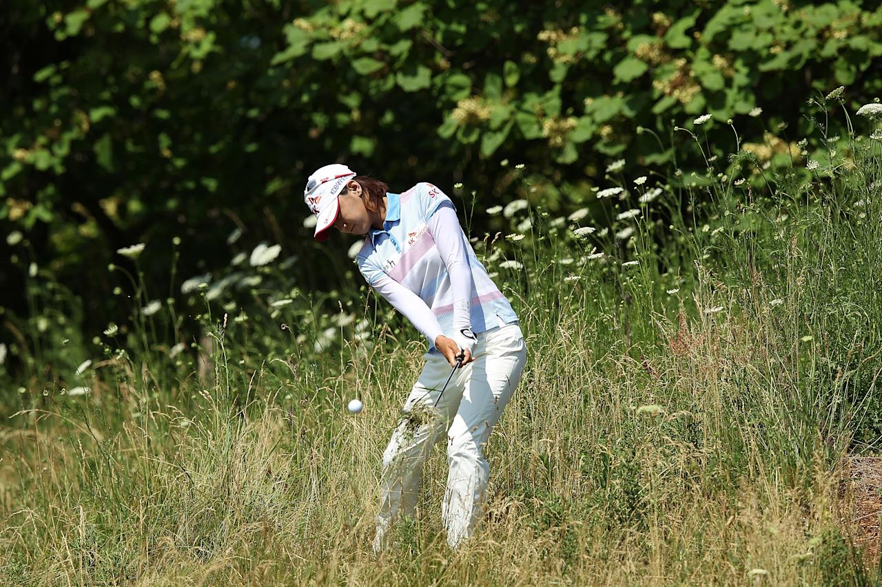 KOHLER, WI - JULY 08:  Na Yeon Choi of South Korea plays a shot from the rough on the 12th hole during the final round of the 2012 U.S. Women's Open on July 8, 2012 at Blackwolf Run in Kohler, Wisconsin.  (Photo by Scott Halleran/Getty Images)