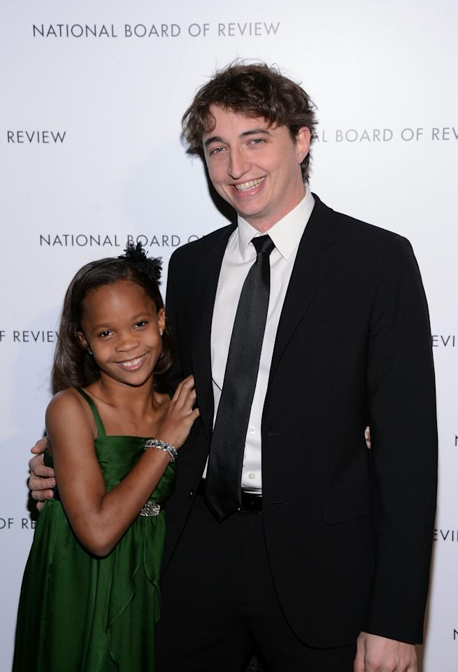 NEW YORK, NY - JANUARY 08:  Actress Quvenzhane Wallis and Director Benh Zeitlin attend the 2013 National Board Of Review Awards Gala at Cipriani 42nd Street on January 8, 2013 in New York City.  (Photo by Stephen Lovekin/Getty Images)