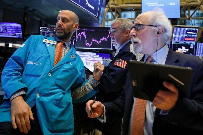 Wall Street nears record high on trade earnings optimism