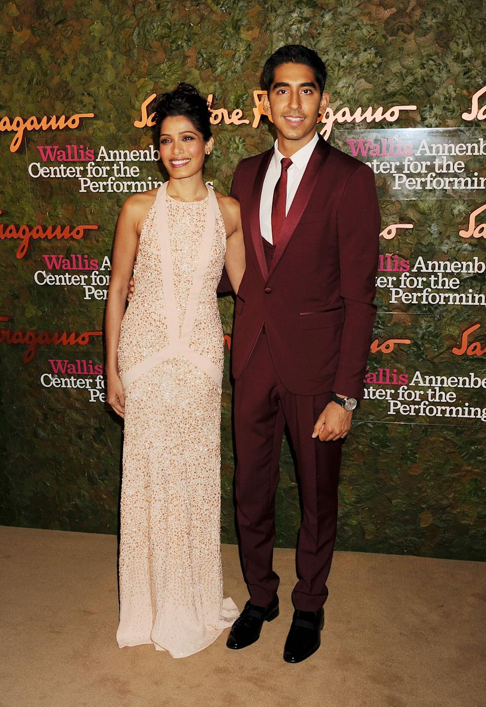 Patel and Pinto at the Wallis Annenberg Center For The Performing Arts Inaugural Gala in Beverly Hills on Oct. 17, 2013.