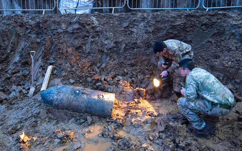 The Second World War bomb was discovered on a building site in Brent - Credit: PA