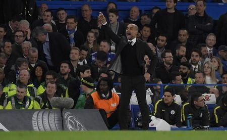 Britain Soccer Football - Chelsea v Manchester City - Premier League - Stamford Bridge - 5/4/17 Manchester City manager Pep Guardiola Reuters / Toby Melville Livepic