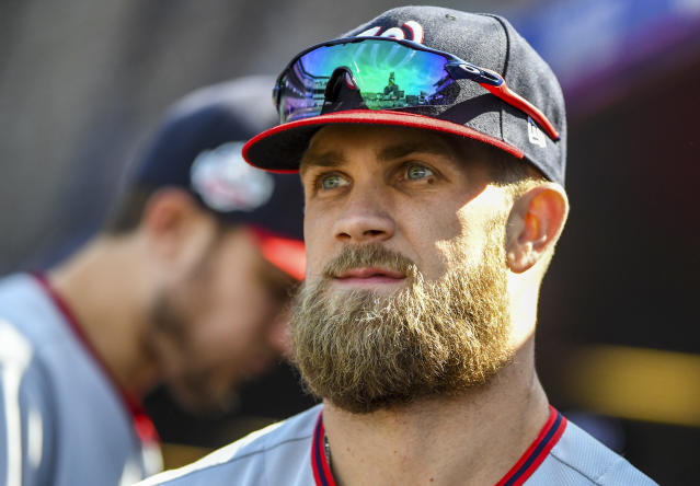 Outfielder Bryce Harper is still looking for a home. (Getty Images)