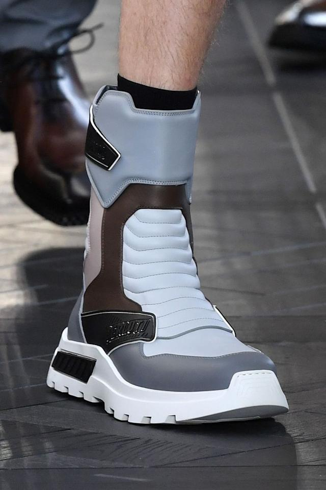 <p>A spaceboot from New Earth 3022? A trainer plucked straight from <em>Bill & Ted's Bogus Journey</em>? We'll never know. But Berluti's taller take on the futuristic sneaker is set to launch the trend to new heights.<em></em></p>