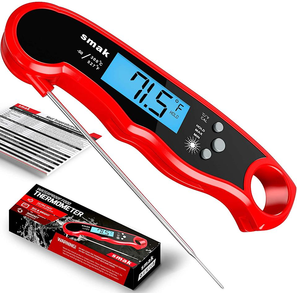 Smak Digital Instant Read Meat Thermometer. Image via Amazon.