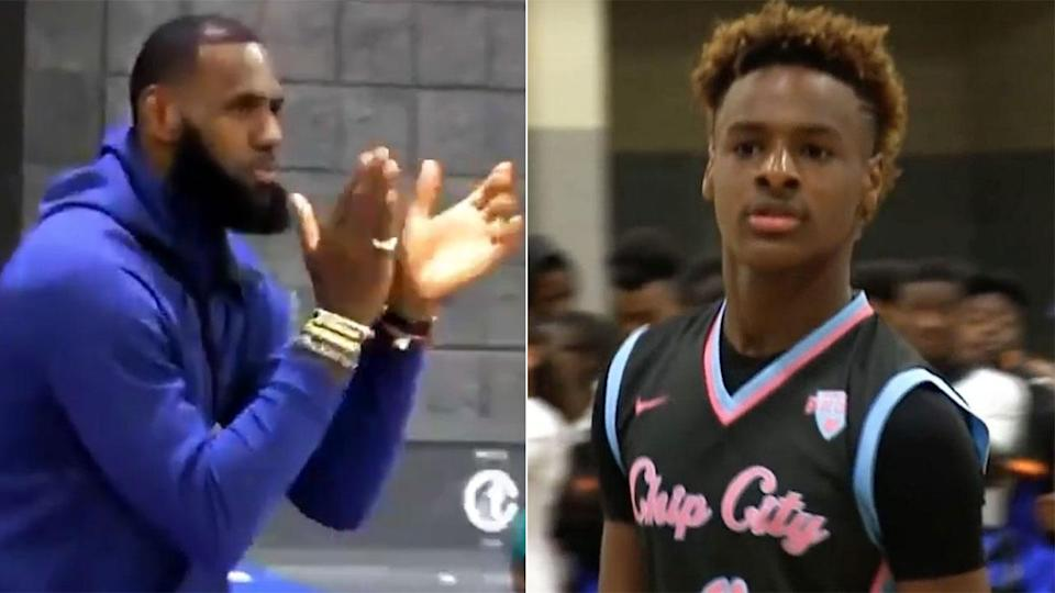 LeBron Jr impressed his father with his incredible play. Pic: Getty
