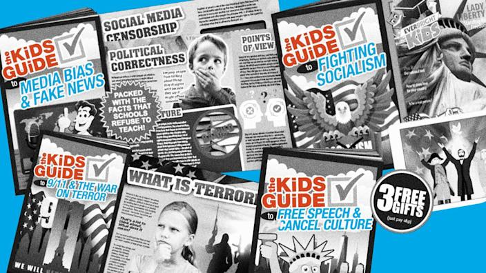 """<div class=""""inline-image__credit"""">Photo Illustration by The Daily Beast/Screenshots/The Kids Guide/Facebook</div>"""
