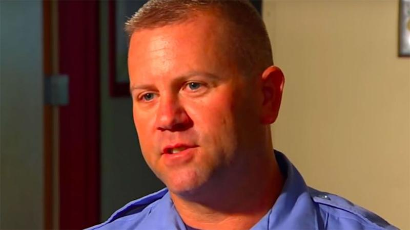 Firefighter Marc Hadden was forced to deliver the baby during an emergency call. Source: Supplied