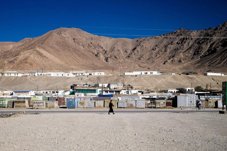 Chinese soldiers have been spotted in the remote, high-altitude town of Murghab, Tajikistan. Locals say dozens, maybe hundreds of Chinese soldiers stay in an outpost 90 miles south of Murghab on the border with Afghanistan. (Photo by Gerry Shih/The Washington Post via Getty Images)