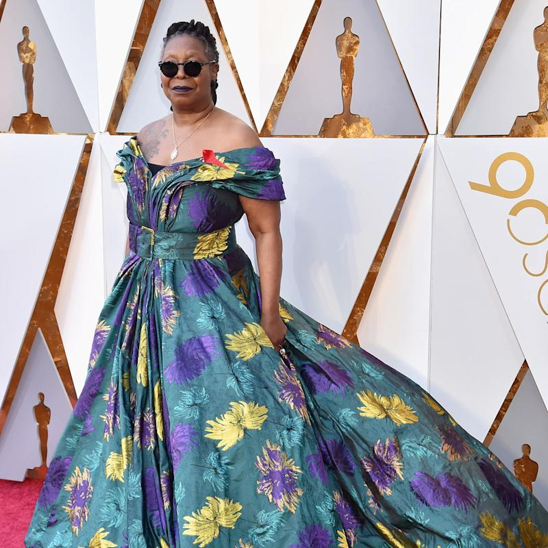 whoopi goldberg underrated fashion icon brings humor to her oscars