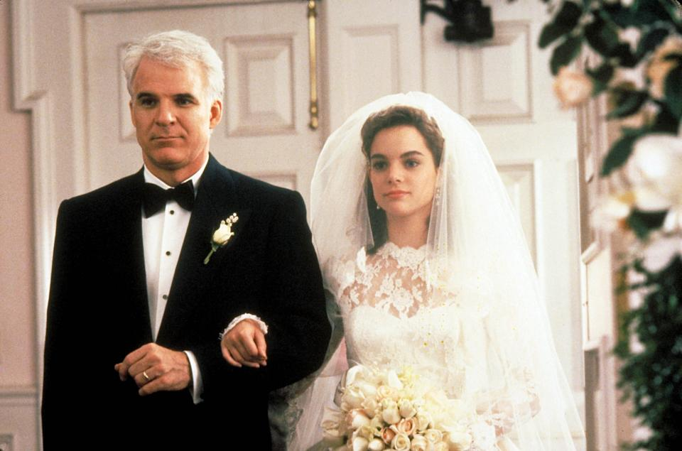"Steve Martin plays the dad giving his daughter (Kimberly Williams) away in ""Father of the Bride."""