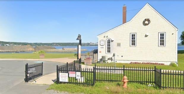 The infilling project in the Bedford Basin can be seen clearly from the Africville Museum.