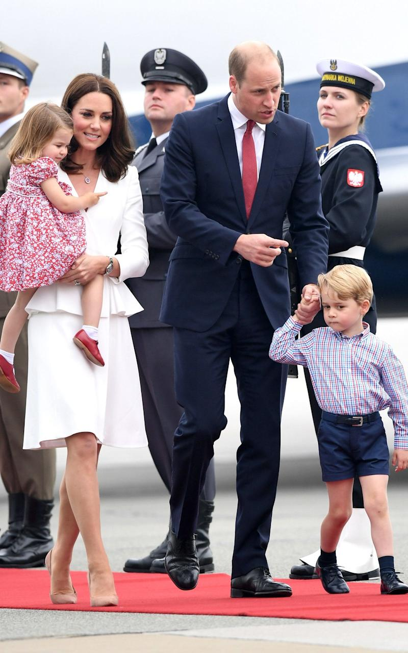 Catherine, Duchess of Cambridge and Prince William, Duke of Cambridge with their children - Credit: Samir Hussein/Samir Hussein/WireImage