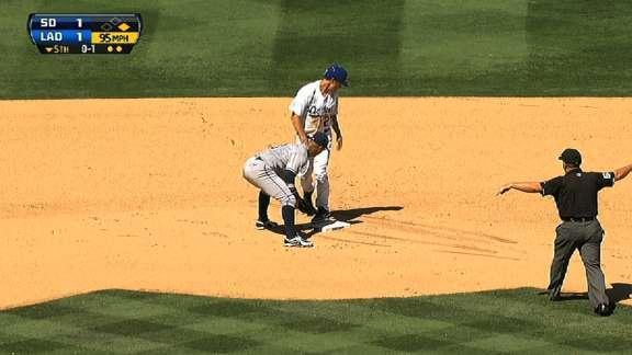 Dodgers pitcher Zack Greinke steals base for second time this season