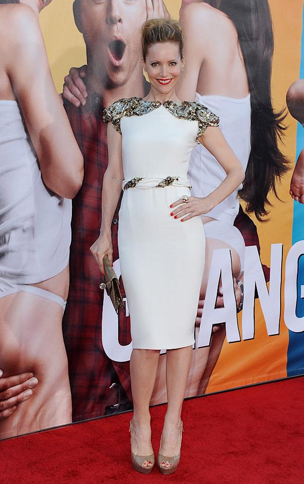 "<a href=""http://movies.yahoo.com/movie/contributor/1800018715"">Leslie Mann</a> at the Los Angeles premiere of <a href=""http://movies.yahoo.com/movie/1810155680/info"">The Change-Up</a> on August 1, 2011."