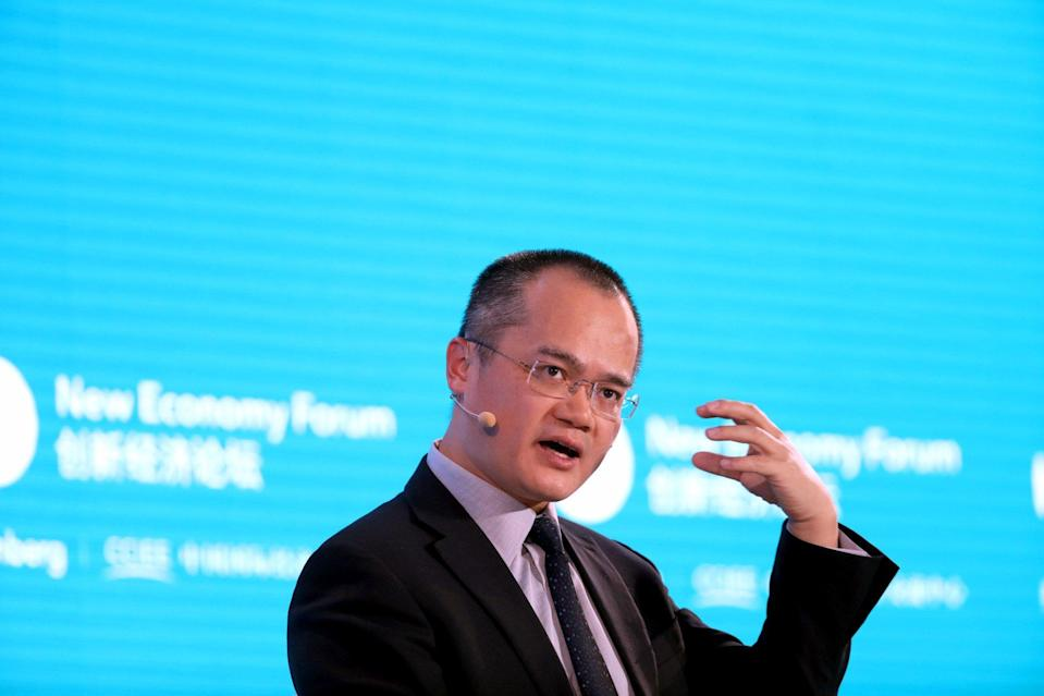 Wang Xing, chairman, CEO and co-founder of Meituan. Photo: Bloomberg