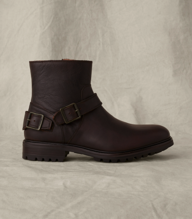 """<p>belstaff.com</p><p><strong>$395.00</strong></p><p><a href=""""https://go.redirectingat.com?id=74968X1596630&url=https%3A%2F%2Fwww.belstaff.com%2Fen_US%2Fmen%2Ffootwear%2Fboots%2Ftrialmaster-boot-chocolate%2FB000144268.html%23start%3D1&sref=https%3A%2F%2Fwww.menshealth.com%2Fstyle%2Fg37131767%2Fbest-motorcycle-boots%2F"""" rel=""""nofollow noopener"""" target=""""_blank"""" data-ylk=""""slk:BUY IT HERE"""" class=""""link rapid-noclick-resp"""">BUY IT HERE</a></p><p>While Belstaff's Trialmaster boot came out of the 1950s, it continues to look as cool as ever. The side zips make them easy to slip on and the buckles help personalize the fit to your foot. Plus, in leather this good, you can wear them wherever you please. </p>"""