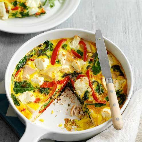 """<p>A great way to use up leftover chicken from a Sunday roast, this frittata can be served with a green salad for a quick summery supper</p><p><strong>Recipe: <a href=""""https://www.goodhousekeeping.com/uk/food/recipes/a535485/chicken-and-feta-frittata/"""" rel=""""nofollow noopener"""" target=""""_blank"""" data-ylk=""""slk:Chicken and Feta Frittata"""" class=""""link rapid-noclick-resp"""">Chicken and Feta Frittata</a></strong></p>"""