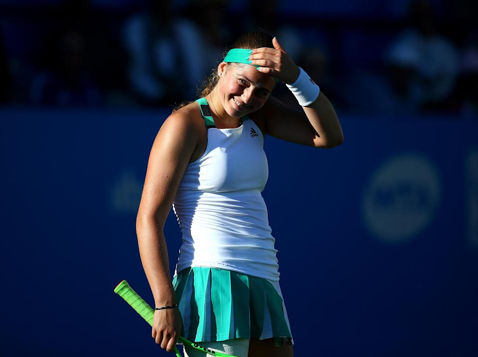 Ostapenko felt the weight of expectation (Getty)