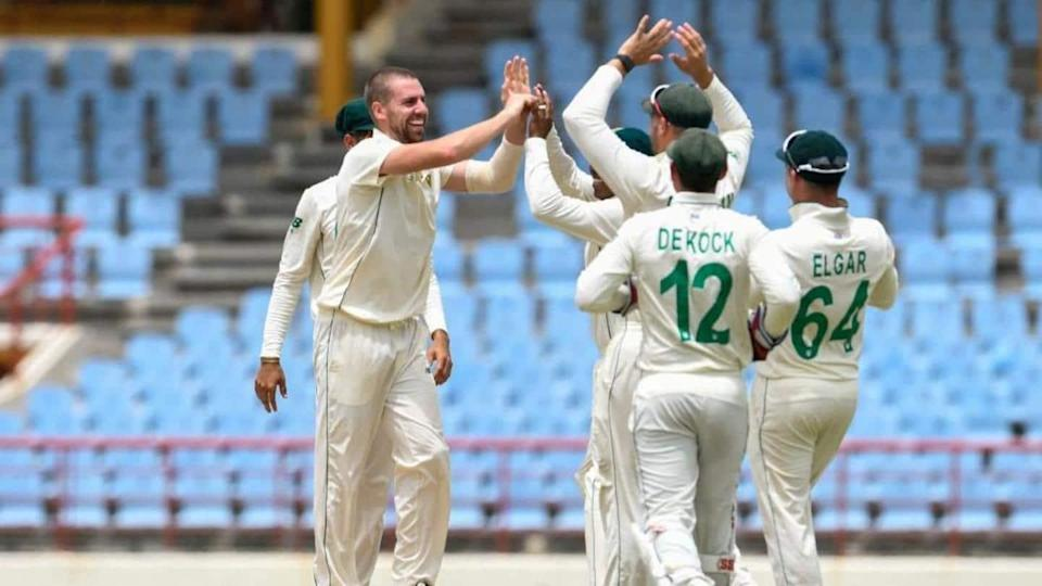 1st Test: WI bowled out for 97 as SA dominate