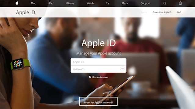 Forgot AppleID or password