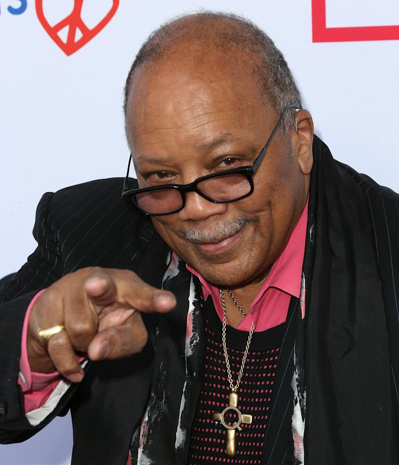 BEVERLY HILLS, CA - JUNE 09: Composer Quincy Jones attends the First Annual Children Mending Hearts Style Sunday on June 9, 2013 in Beverly Hills, California.  (Photo by Frederick M. Brown/Getty Images)