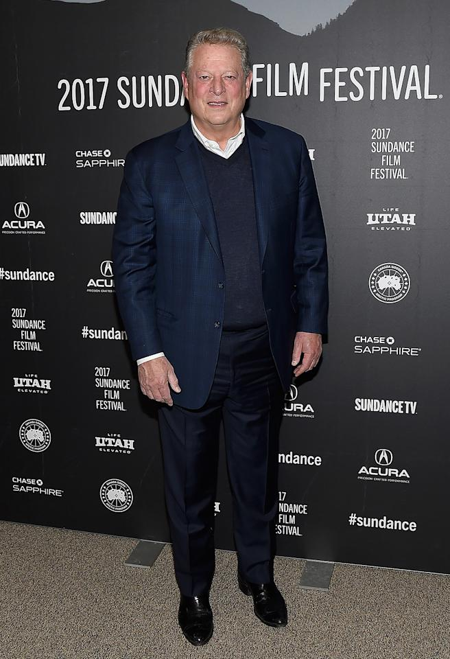 <p>The former vice president of the United States attends premiere of 'An Inconvenient Sequel' on Jan. 19. (Photo: Matt Winkelmeyer/Getty Images) </p>