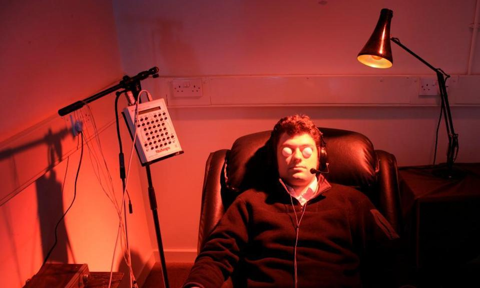 An extrasensory perception (ESP) experiment taking place at the University of Edinburgh in Scotland in 2005