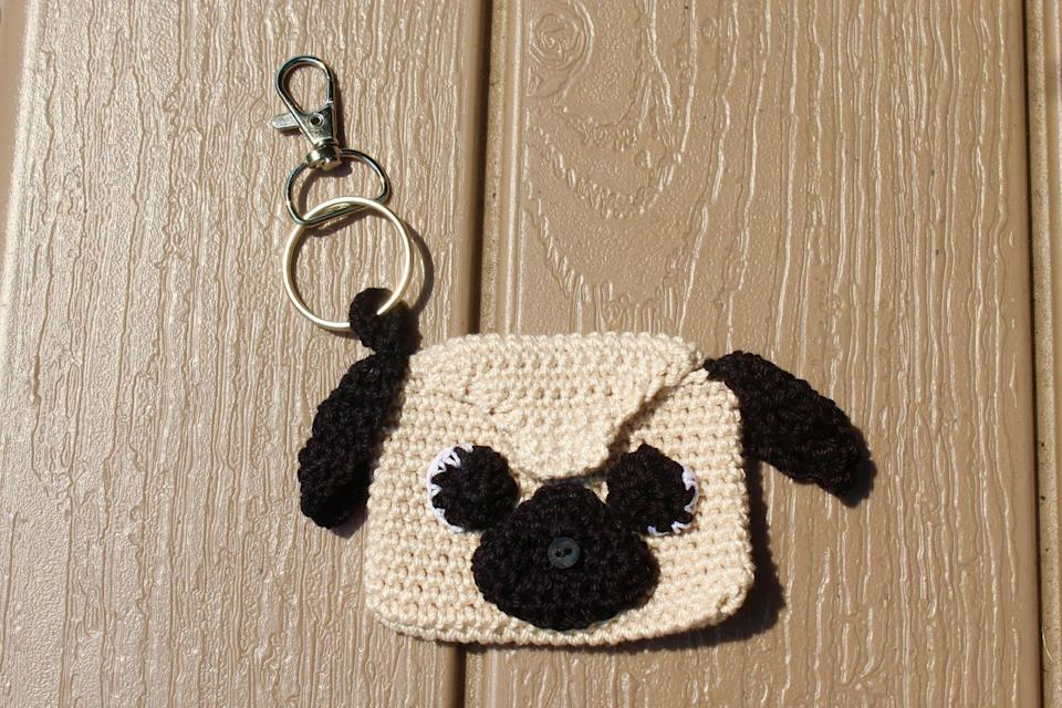 <p>Who wouldn't want to stare at this <span>Puppy Keychain Pouch</span> ($20) every single day?</p>
