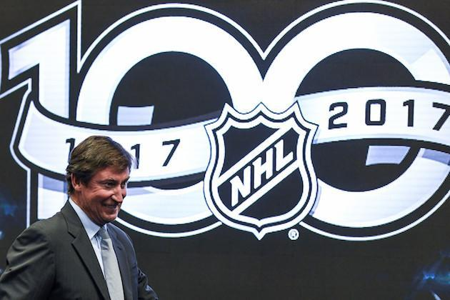 TORONTO, ON – SEPTEMBER 27: NHL icon Wayne Gretzky attends the unveiling the league's Centennial celebration plans for 2017 during a press conference at the World Cup of Hockey 2016 at Air Canada Centre on September 27, 2016 in Toronto, Ontario, Canada. (Photo by Minas Panagiotakis/Getty Images)