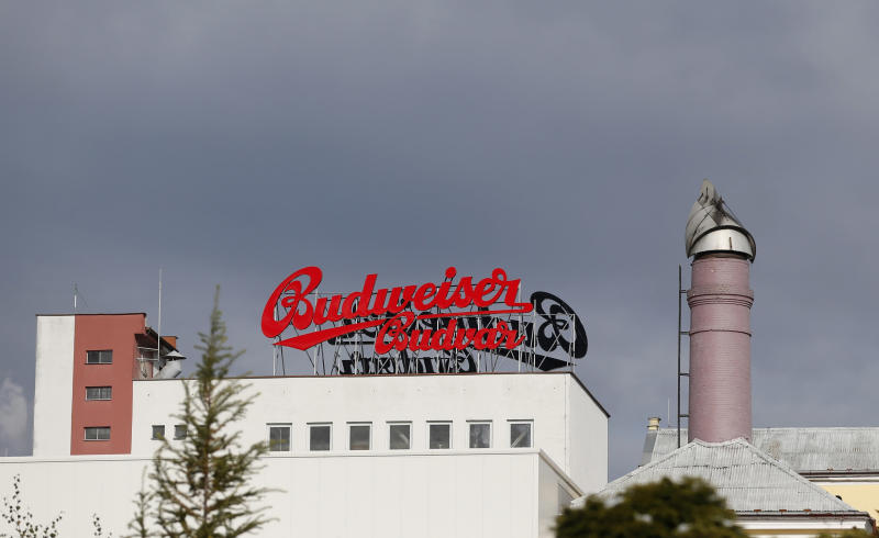 In this Tuesday, Oct. 30, 2012 photo a view of the Budejovicky Budvar brewery, in Ceske Budejovice, Czech Republic. They've been arguing about a name for 106 years. A small brewer in the Czech Republic and the world's biggest beer maker have been suing each other over the right to put the word Budweiser on their bottles in what has become a David versus Goliath corporate saga. A deal, it seems, will have to wait a bit longer because settlement talks between state-owned Budejovicky Budvar and Anheuser-Busch, a U.S. company now part of AB InBev, have collapsed, according to Budvar's director general, Jiri Bocek. (AP Photo/Petr David Josek)