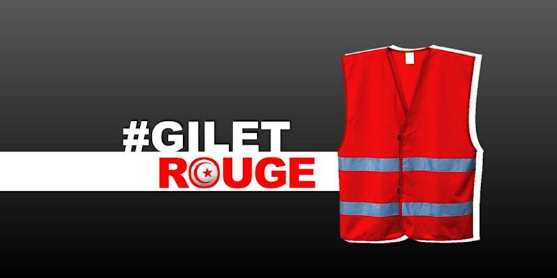 Gilet rouge – or 'red vest' anti-corruption protest movement in Tunisia echoes 'yellow vest' economic rallies in France (Gilets Rouge/Facebook)
