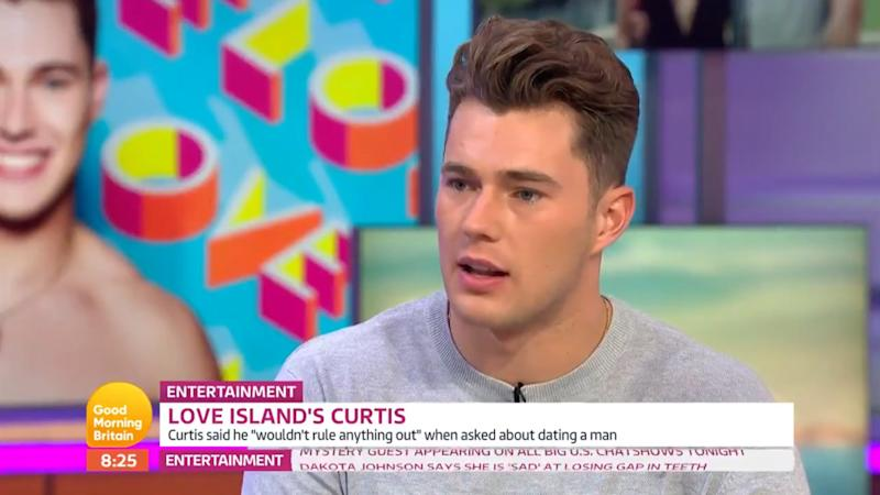 'Good Morning Britain' viewers slammed the show for their 'invasive' interview of 'Love Island' star Curtis Pritchard on Thursday 8 August (ITV)