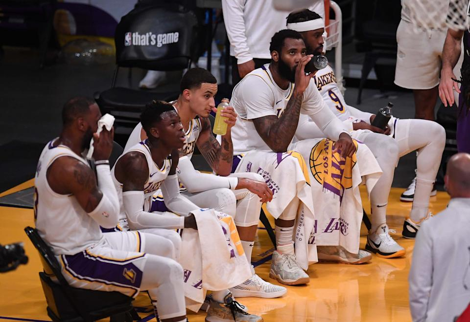The Lakers have been replaced as the betting favorite in the West. (Photo by Keith Birmingham/MediaNews Group/Pasadena Star-News via Getty Images)