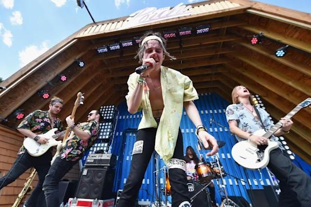 <p>Chase Atlantic performs during the 2018 Firefly Music Festival in Dover, Delaware. (Photo: Getty Images) </p>