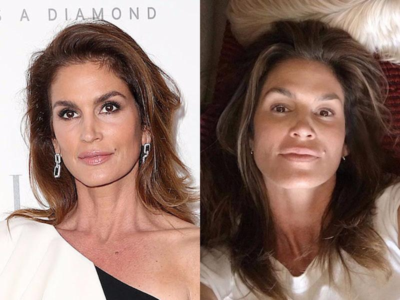 cindy crawford no makeup