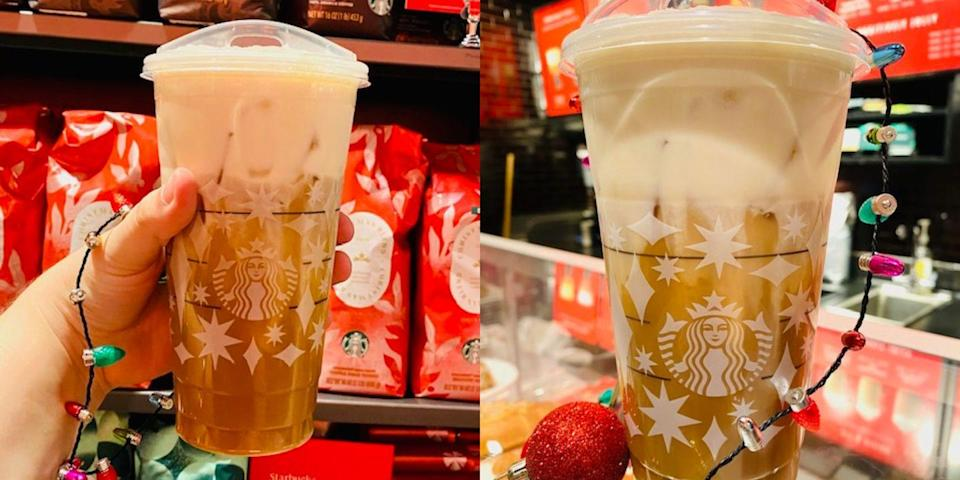You Can Get A Toasted Caramel Brulee Cold Brew From Starbucks That's Festive AND Caffeinated