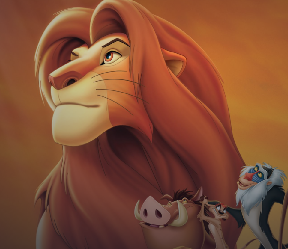 """<p>disneyplus.com</p><p><a href=""""https://go.redirectingat.com?id=74968X1596630&url=https%3A%2F%2Fwww.disneyplus.com%2Fmovies%2Fthe-lion-king-the-walt-disney-signature-collection%2F1HqwiEcje6Nj&sref=https%3A%2F%2Fwww.redbookmag.com%2Flife%2Fg34929170%2Fbest-disney-movie1%2F"""" rel=""""nofollow noopener"""" target=""""_blank"""" data-ylk=""""slk:WATCH NOW"""" class=""""link rapid-noclick-resp"""">WATCH NOW</a></p><p>Based loosely on Shakespeare's Hamlet, <em>The Lion King</em> is the story of what happens to the young cub Simba after he goes into exile when his evil uncle Scar convinces him he's responsible for his father Mufasa's death. Along with the help of his childhood friend Nala, and his new pals, Timon, the meerkat, and Pumba, the warthog, Simba takes back Pride Rock from Scar and his gang of hyenas. Three of Elton John and Tim Rice's tunes received Academy Award nominations for best original song and ultimately won for """"Can You Feel The Love Tonight.""""</p>"""