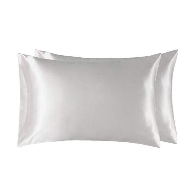<p>Keep your skin and hair the healthiest it can be with these luxurious <span>Bedsure Standard Size Satin Pillowcases</span> ($10).</p>