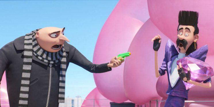 Gru and the magnificently named new Despicable Me 3 villain Balthazar Bratt [Image via Illumination Entertainment]
