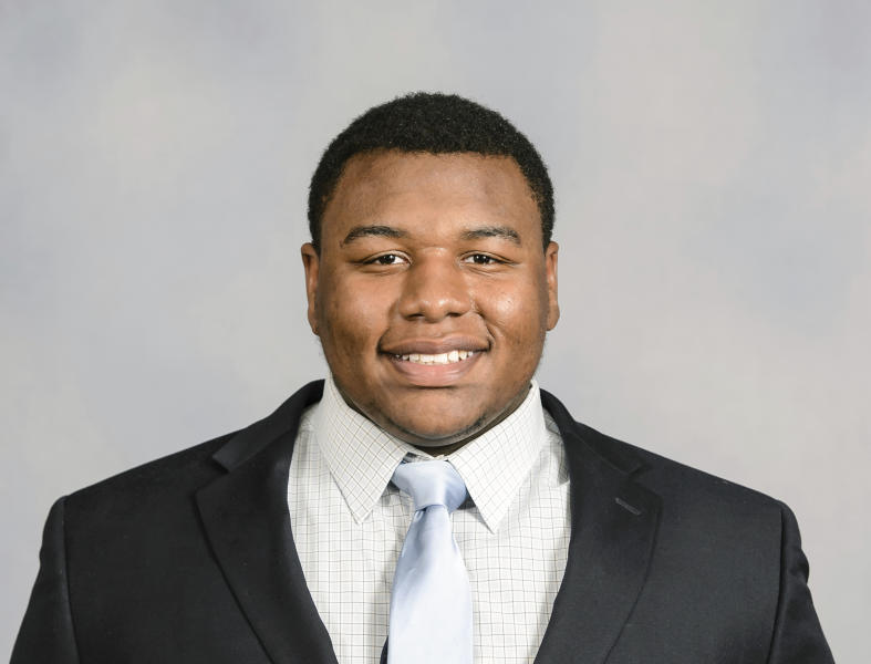This 2016 photo provided by Clemson Athletics shows Dexter Lawrence. Lawrence is a possiblepick in the 2019 NFL Draft. (Craig Mahaffey/Clemson Athletics via AP)