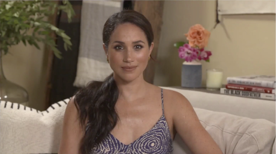 Meghan Markle Wore Spaghetti Straps to Talk About Why She Left Social Media