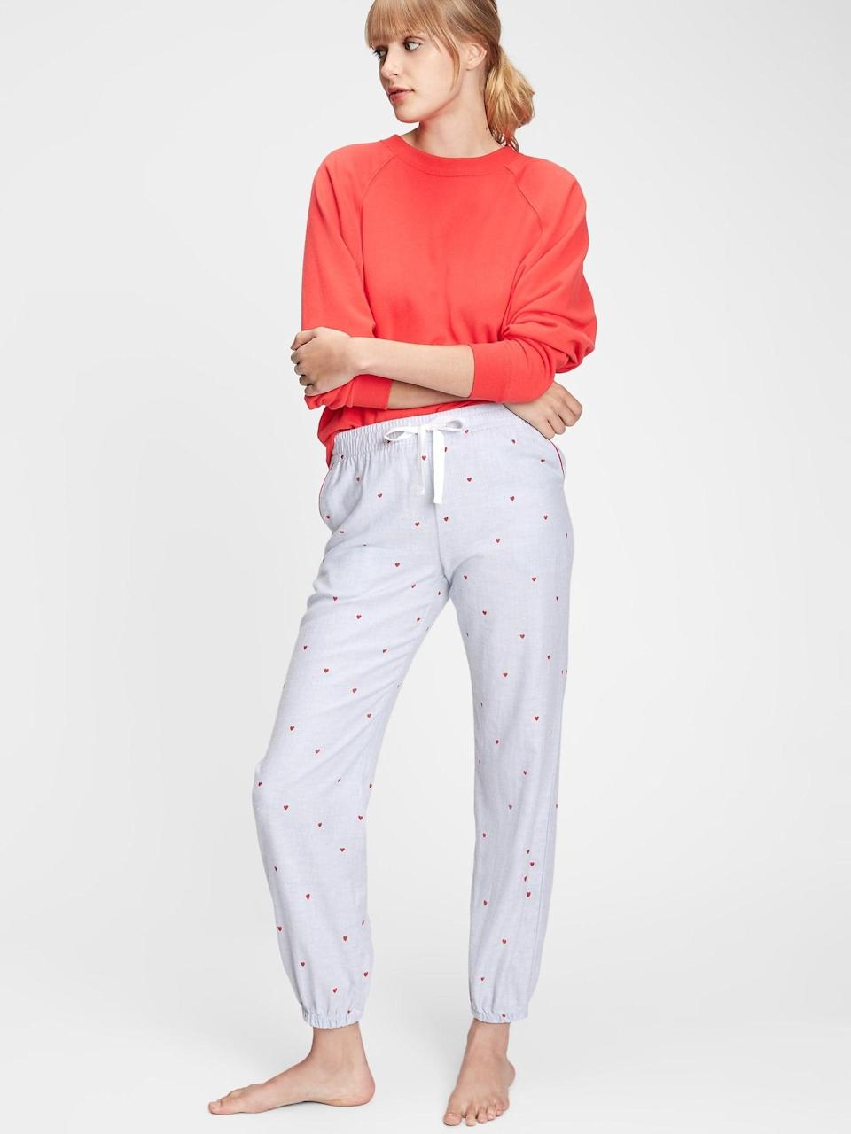 <p>Or these <span>Gap Flannel Pajama Joggers</span> ($35). Your girls will love them!</p>