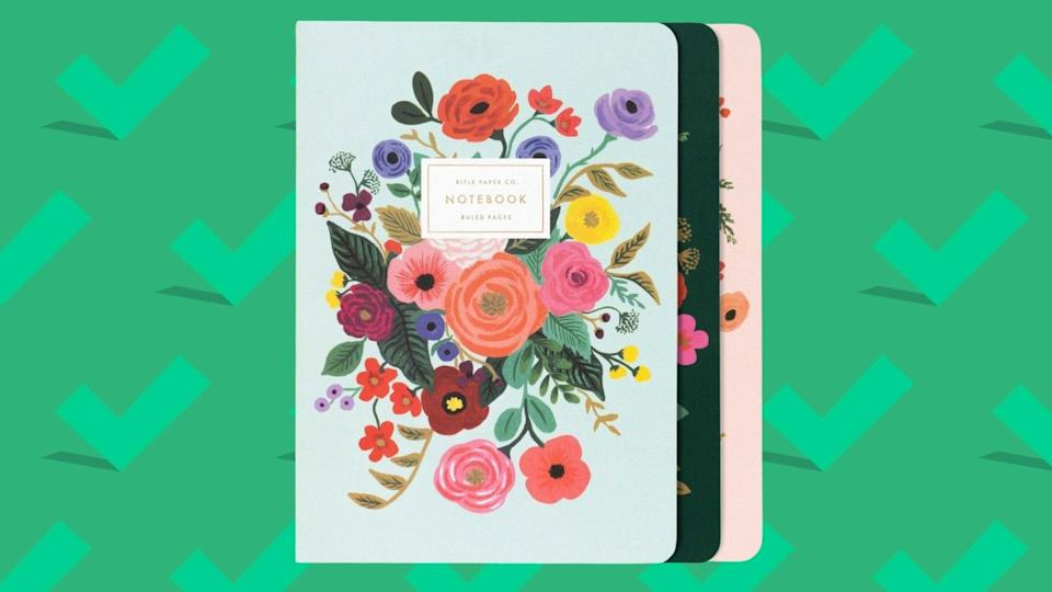 Best gifts for wives: Rifle Paper Co. Stitched Notebook Set.
