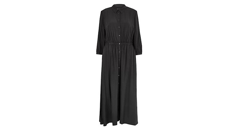 Midi Waisted Shirt Dress